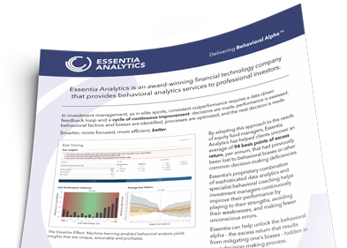 Image of a PDF Introduction to Essentia Analytics
