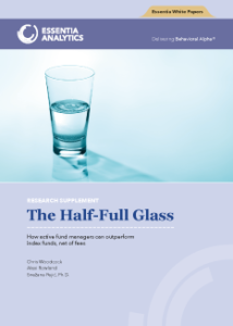 Picture of the Glass Half-Full Research paper from Essentia Analytics