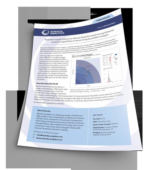 Picture of Essentia Insight Enterprise introduction